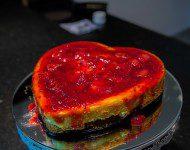 cheessecake com massa de avelã