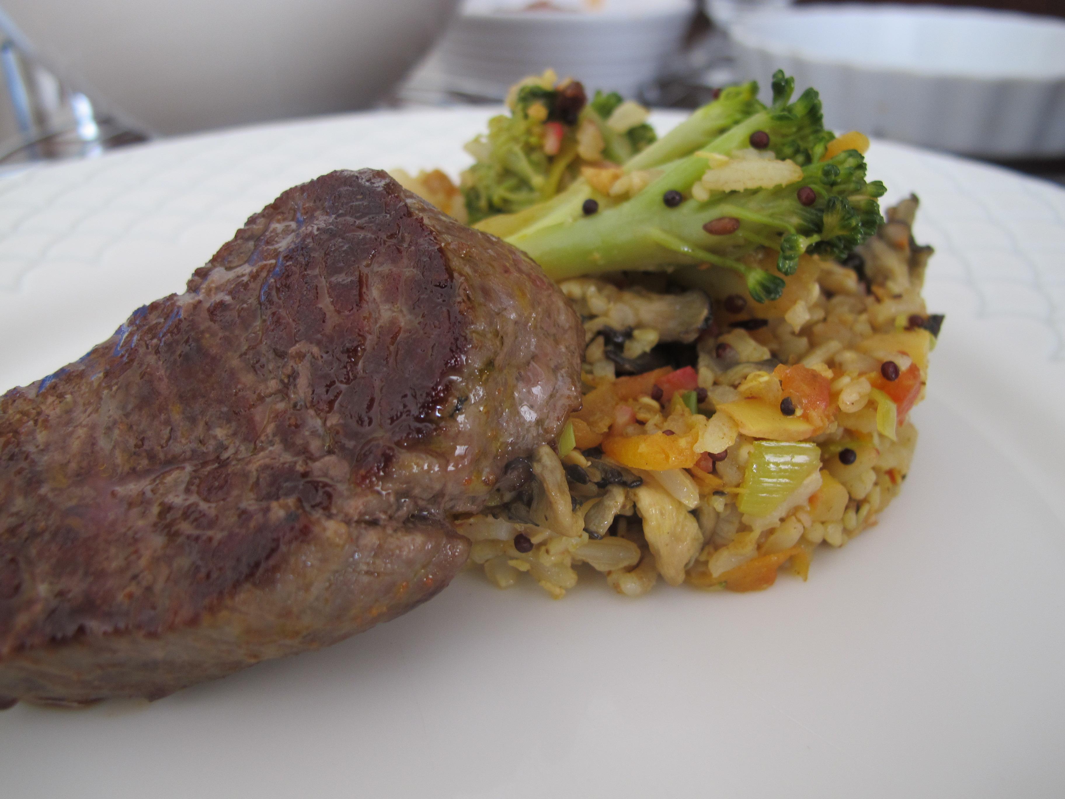 Risoto de arroz integral com legumes
