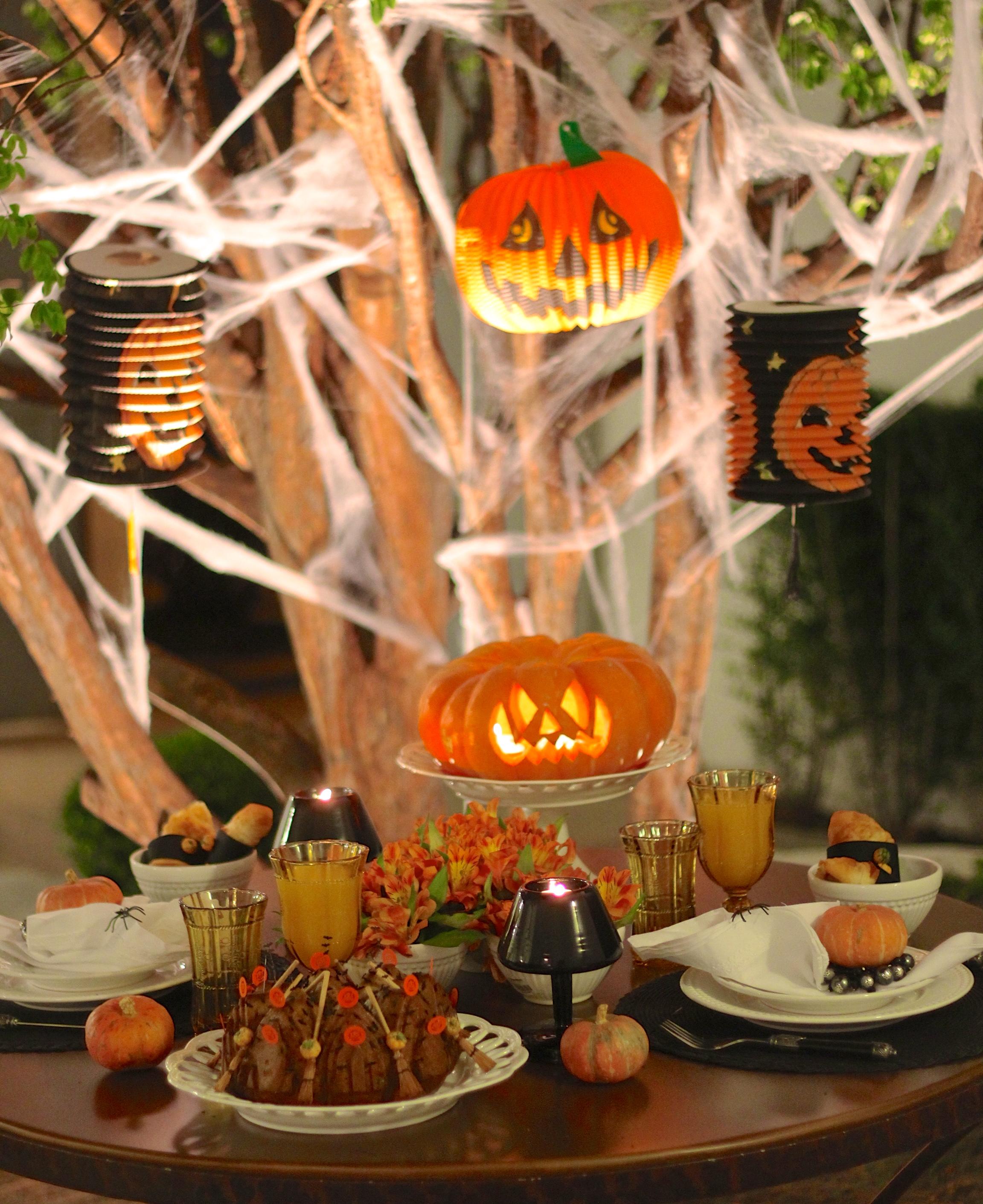 Bolo de abóbora para o Halloween