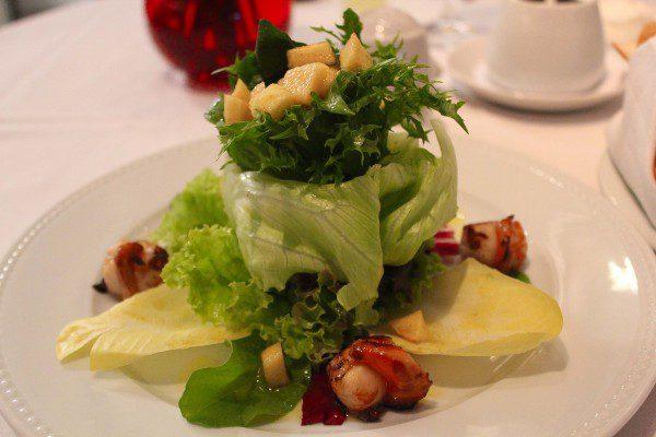 Salada de vieiras