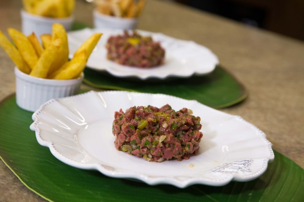 Steak Tartare e batata frita