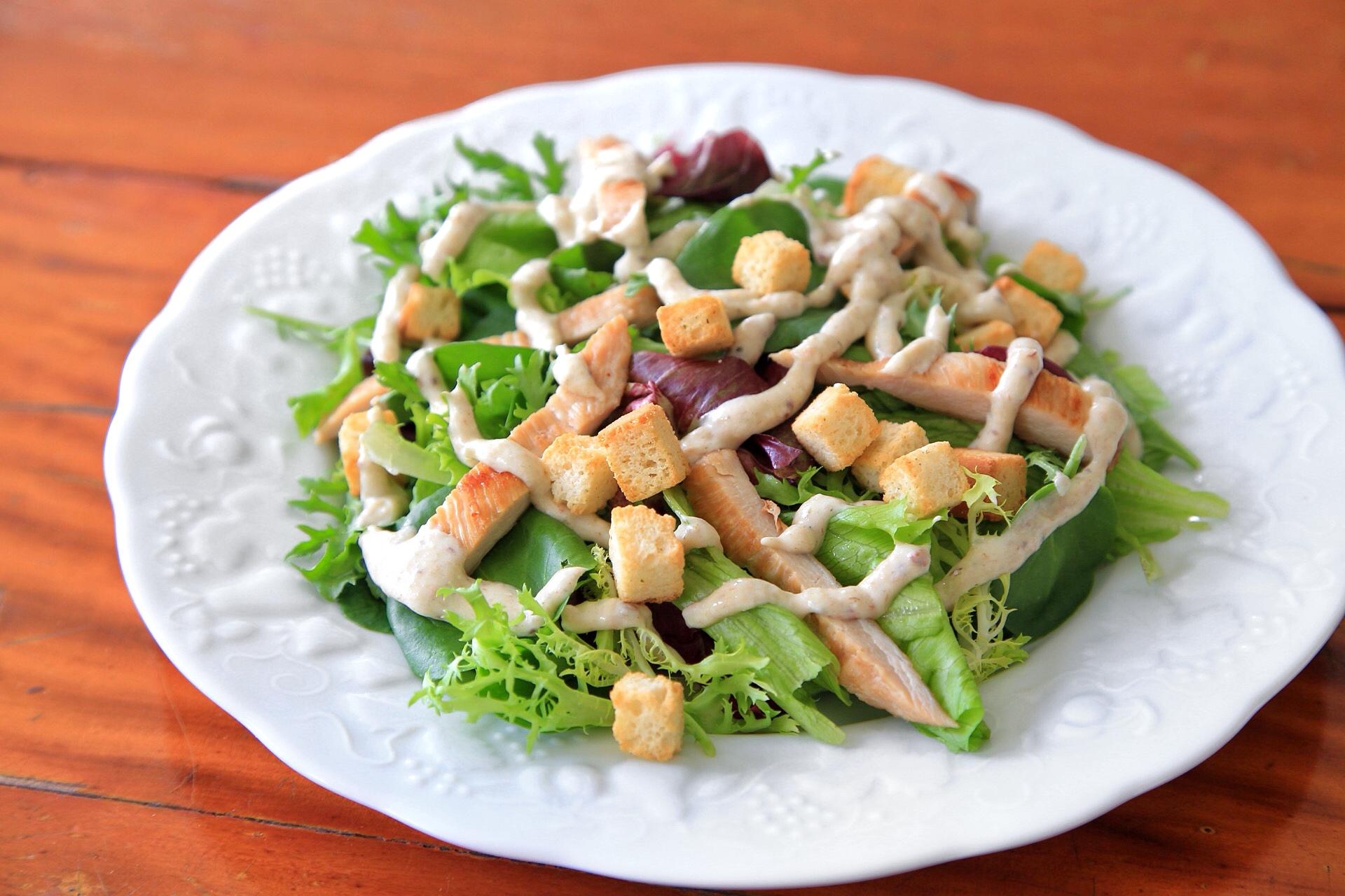 Ceasar Salad com creme de ricota